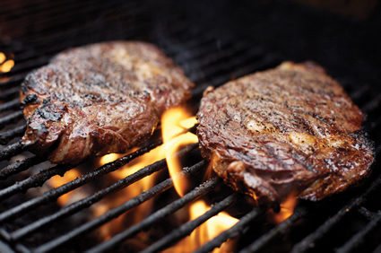 grilled steaks