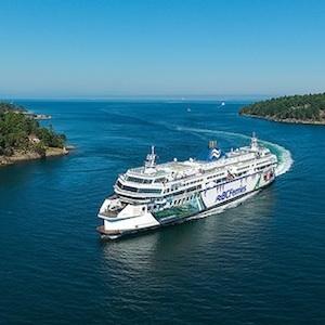 BC Ferries' Coastal Celebration en route from Tsawwassen to Swartz Bay.