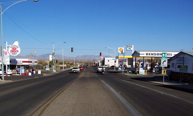 A view of 4th Street East, Benson, Arizona.