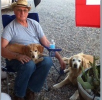Bill Butler with his 2 dogs.