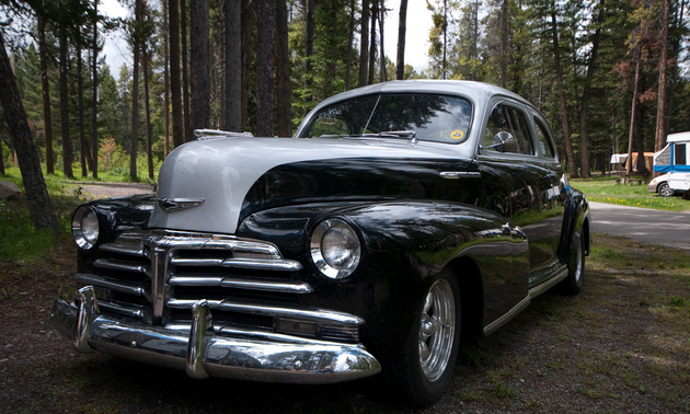 Gene Spitzer's two tone '48 Chevrolet Stylemaster is for sale