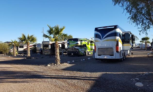 The Black Rock RV Village in Arizona.