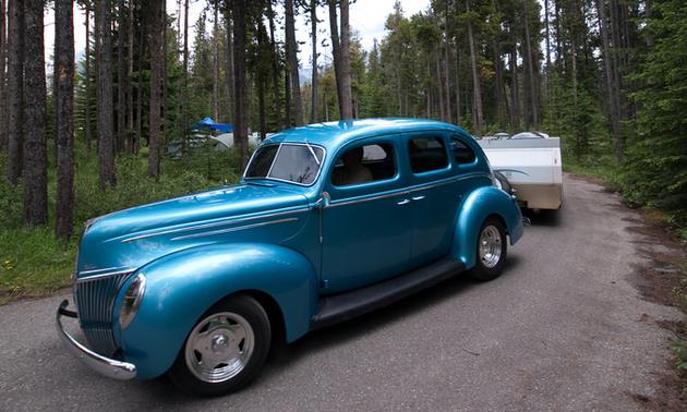 Roger Lee and his '39 4-door deluxe Sedan