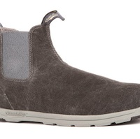 A photo of a grey Blundstone Boot.