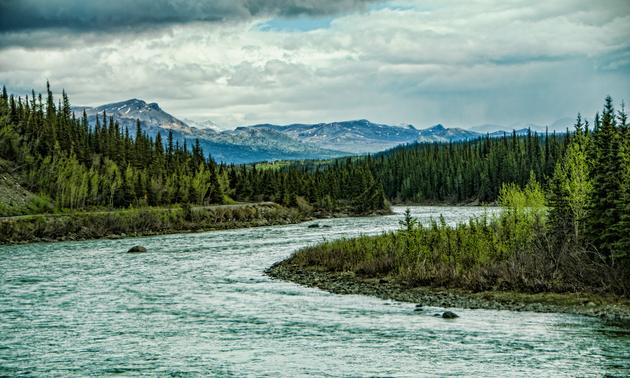 mountain scenery in Alaska