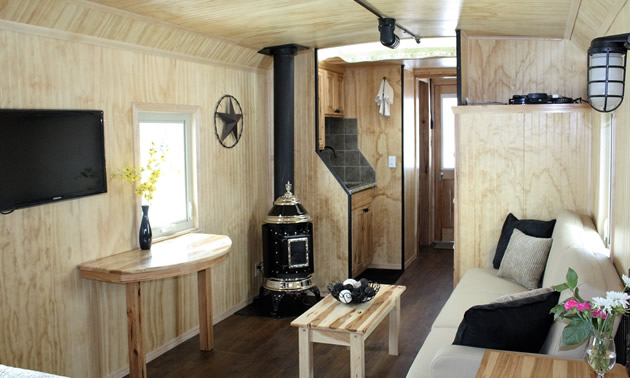 Caboose Cabins—the fun of camping but with hotel amenities!
