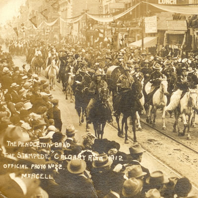 More than double the population of Calgary attended the first Stampede Parade in 1912.
