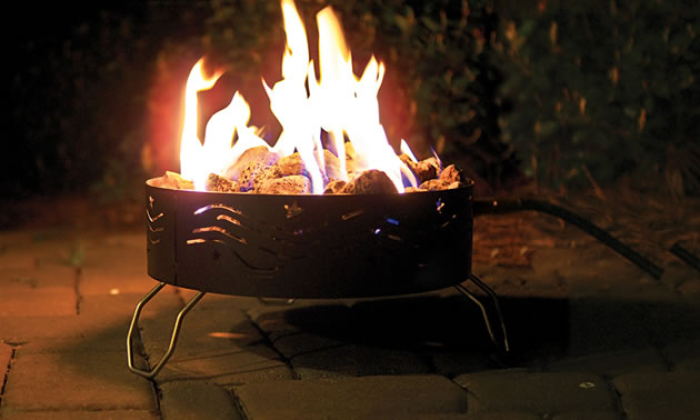 This handy portable campfire is a big hit among RVers.