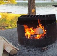 A photo of a campfire.