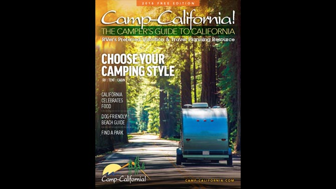 The Camp-California! travel planning resource includes amenity grids for campgrounds in each region of the state that highlight 17 different types of amenities.