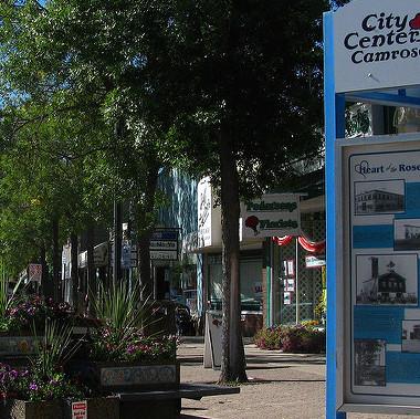 A downtown Camrose street scene.