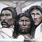 mural of First Nations people