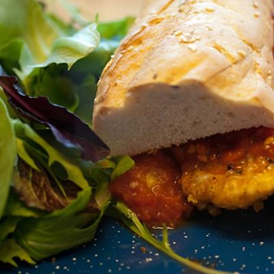 Lassen RV Resort chicken banh mi sandwich