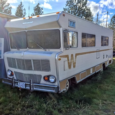 Classic Winnebago Chieftain motorhome from the early 1970's complete with the
