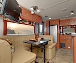 The inside of an Earthbound RV