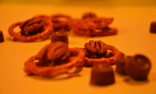 pretzels, candies and pecans