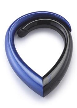 The Embrace folds up to a tear-drop shape.
