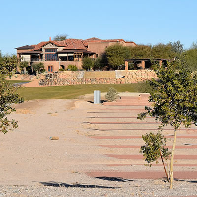 Refuge Golf Course Clubhouse and RV sites on former #4 fairway.