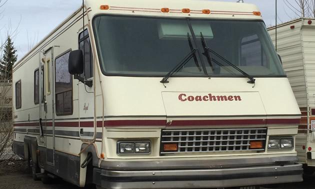 Mid-70's Coachmen Class A motorhome.
