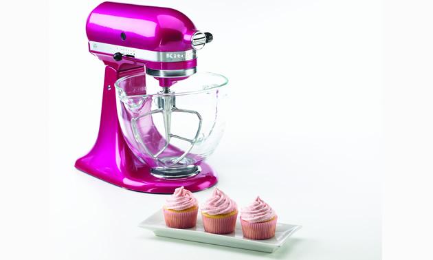 pink cake mixer from Kitchenaid