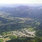 Frank Slide debris on a mountainside
