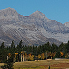 mountain on a sunny day in the Crowsnest Pass, Alberta