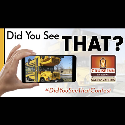 Graphic of the Cruise Inns 'Did You See That?' contest.