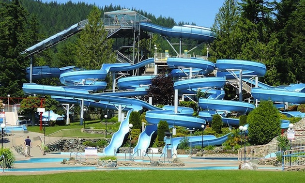 Cultus Lake Water Park attracts many visitors to the area.