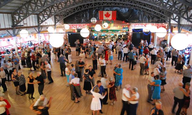 People dancing at Danceland Ballroom in Manitou Beach, SK.