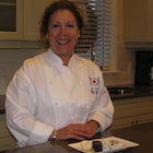 Woman in chef tunic
