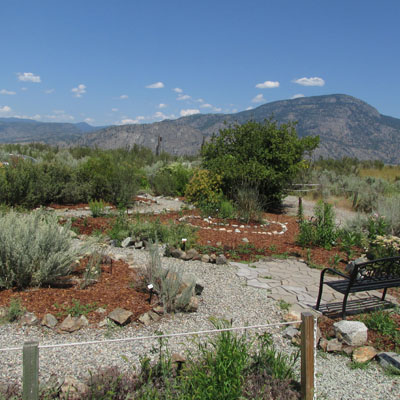 The native plants garden at the Osoyoos Desert Centre.