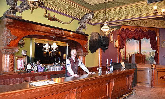 man at a vintage bar