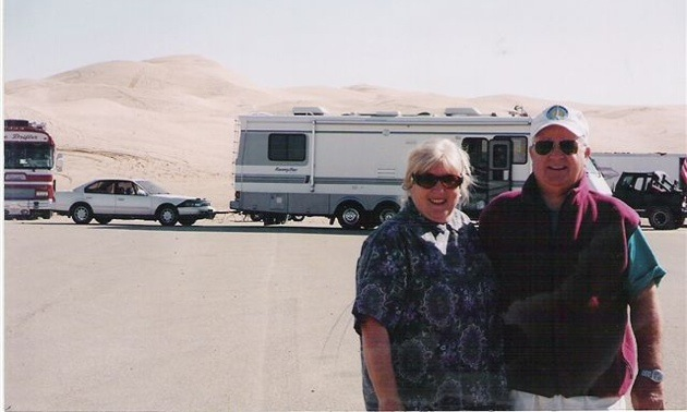 Don and Carol McDowall at the Imperial Sand Dunes, Winterhaven, California.