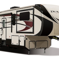 The outside of the Durango Gold fifth wheel