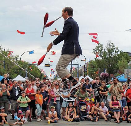 juggler performing