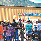 people gathered in Elkford BC
