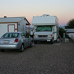 motorhome in RV park