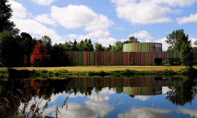rainbow coloured building