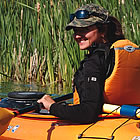 woman in a kayak in Fairmont Hot Springs