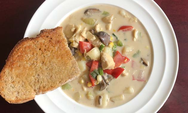 Nasty weather keeping you off the water? A steaming bowl of pike chowder takes the sting out.