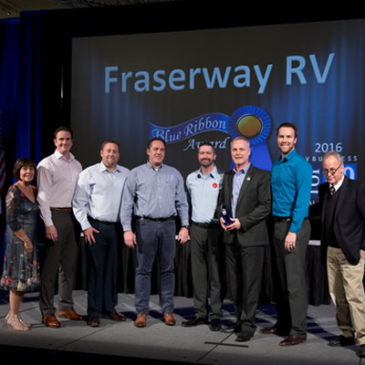 Fraserway RV employees receive the coveted