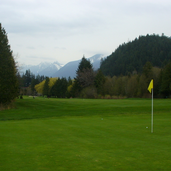 Shown is a putting green on the Gleneagles Golf Course in Vancouver, B.C.