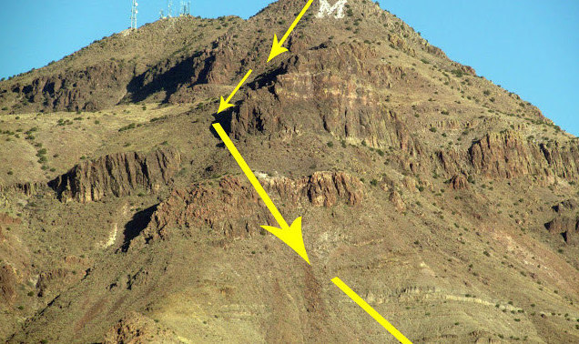 Socorro Peak or M-Mountain in Socorro, New Mexico, the site of the Elfego Baca Shootout Golf Tournament.