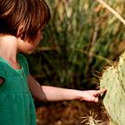 Child with cactus