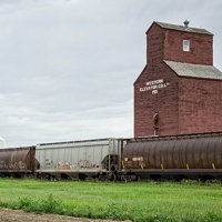 Gravelbourg elevator and train.