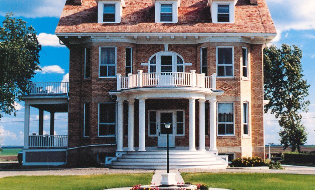 Once home to the diocese's bishop, this stately home now serves as a bed and breakfast inn.  Photo courtesy of  Economic Development Gravelbourg