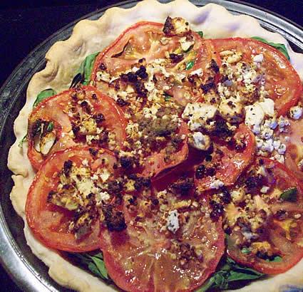 Greek salad tart