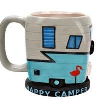 The fun happy camper mug, designed to look like a camper.
