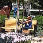 garden with people in it, in San Jacinto Museum, CA