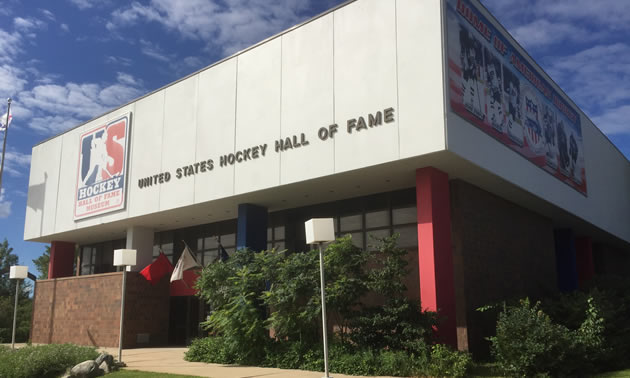 The United States Hockey Hall of Fame museum in Eveleth, Minnesota.